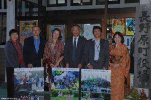 Встреча с мэром городка Кита-Каруизавы, где был заложен сиреневый сад.